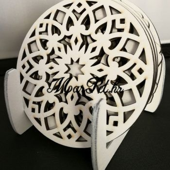 Bijeli podmetač za čaše